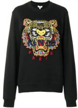 - Kenzo - embroidered tiger sweatshirt - women - fibra sintetica/cotone - XL - di colore nero