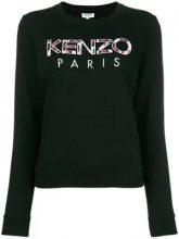 - Kenzo - Kenzo Paris embroidered sweatshirt - women - cotone/fibra sintetica - M, XS, L, S - di colore nero