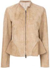 - Drome - Giacca con design senza collo - women - Leather - L, S - Color carne & neutri