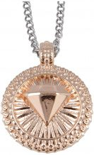 Collana Pendente Diamante Finitura Oro Rosa