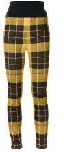 - Gloria Coelho - knit skinny trousers - women - fibra sintetica - 40 - di colore giallo