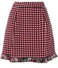- Boutique Moschino - knitted fringed skirt - women - modal/acrilico/fibra sintetica/cotonelana verginefibra sinteticalana - 40, 42 - di colore rosso