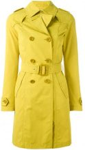 - Herno - double breasted coat - women - Polyester/cotone/AcetatePolyamide - 44 - di colore giallo