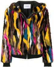 - Dondup - patterned faux fur jacket - women - fibra sintetica/acrilico - 40 - di colore giallo