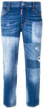 - Dsquared2 - Jeans boyfriend - women - fibra sintetica/cotone/cotonepelle di vitello - 42, 36, 44, 38, 40 - di colore blu
