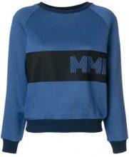 - Mr & Mrs Italy - Felpa con design color - block - women - fibra sintetica - M, L, XL, XXS, XS - di colore blu