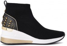 Sneaker a calza Michael Kors Skyler in tessuto nero