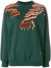 - Kenzo - Felpa 'Geo Tiger' - women - fibra sintetica/cotone - M - di colore verde