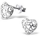 925 Orecchini in argento a forma di cuore - taglia Donna Orecchini in argento 8 x 8 mm spina bombato #SV-170