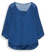 edc by Esprit 117cc1f017, Camicia Donna, Blu (Petrol Blue 450), Small
