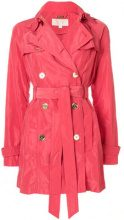- Michael Michael Kors - Trench doppiopetto - women - fibra sintetica - L - di colore rosa