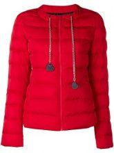 - Love Moschino - zipped padded jacket - women - fibra sintetica - 40, 42, 44 - di colore rosso