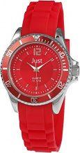 Just Watches Watches 48-S3857-RD - Orologio da polso da donna, cinturino in caucciù colore rosso