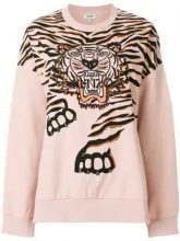 - Kenzo - Felpa Crawling Tiger - women - cotone - L, XXS, XS , S - di colore rosa
