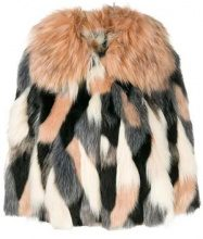- Elisabetta Franchi - cropped faux fur jacket - women - acrilico/fibra sintetica - 38, 44, 42, 46 - di colore rosa