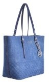 Guess delanay-Borsa a mano da donna, 40 cm, colore: denim