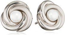 Boccia Orecchini da donna, in titanio con perla bianca–0590–01