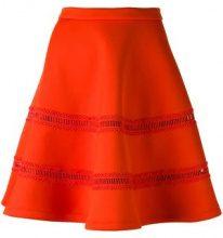 - Carven - flared scuba skirt - women - Polyester/Spandex/Elastane - L - arancione
