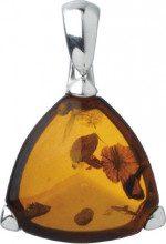 Nature d'Ambre 3160185 - Pendente da donna, argento 925/1000 e ambra