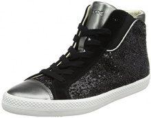 Geox D Giyo A, Sneaker a Collo Alto Donna, Nero (Black/Gun), 40 EU