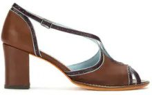 - Sarah Chofakian - contrasting pumps - women - pelle di capra - 35, 38, 37 - color marrone