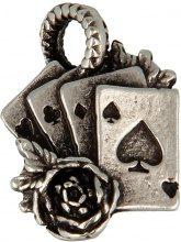 Collana Pendente Poker D'Assi e Rosa