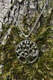 Meranu collana donna albero della vita ciondolo 925 argento medaglioni germanica regalo mamma ciondolo pendente - catena lunga 80 cm