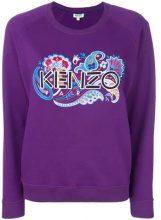 - Kenzo - Felpa con logo ricamato - women - fibra sintetica/cotone - L - di colore viola