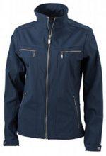 James & Nicholson - Softshelljacke Ladies' Tailored Jacket, Giacca Donna, Blu (navy), Medium (Taglia Produttore: Medium)