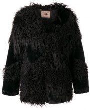 - Twin - Set - faux fur patch jacket - women - Polyester/Acrylic/Modacrylic - 42, 40, 46, 38, 48, 44 - Nero