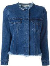 - Marques'almeida - raw - edge denim jacket - women - Cotone - XS - Blu