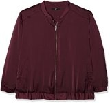 Evans Red Sheen Zip Bomber, Giacca Donna