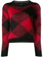 - Woolrich - Maglione con motivo a rombi - women - fibra sintetica/lana/mohair - L, S, M - di colore rosso