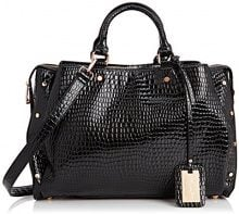 SwankySwans Ashton Croc Patent Leather Work,  Nero Nero