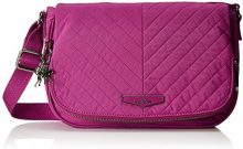 Kipling Earthbeat S - Borse a tracolla Donna, Pink (Wild Pink), 26x17x0.1 cm (B x H T)