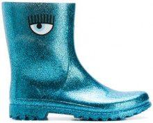 - Chiara Ferragni - eye rain boots - women - fibra sintetica - 36, 37, 38, 39, 40 - di colore blu