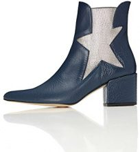 FIND Choir, Stivaletto Chelsea Donna, Blu (Blue), 41 EU
