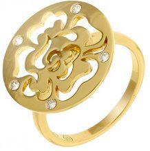 Orphelia dreambase-anello in argento placcato oro con zirconi bianco brillante misura (15,9) - 50 ZR-7079/2/50