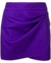 - Nº21 - Minigonna drappegiata - women - cashmere/lana/fibra sintetica - 42, 40 - di colore viola