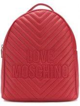 - Love Moschino - Zaino con logo goffrato - women - pelle - Taglia Unica - di colore rosso