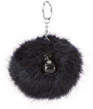 Kipling Pompom Monkey - Portachiavi ad anello e catena Unisex Adulto, Blu (True Navy), 5x10x15 cm (W x H x L)