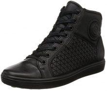 ECCO Soft 7 Ladies, Sneaker a Collo Alto Donna, Nero (Black), 40 EU