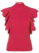 - Elisabetta Franchi - turtle neck knitted top - women - fibra sintetica/acrilico - 42 - di colore rosa