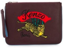 - Kenzo - Clutch ricamata - women - fibra sintetica/pelle di vitello/cotone - Taglia Unica - di colore rosa