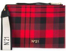 - Nº21 - clutch con stampa tartan - women - fibra sintetica - Taglia Unica - di colore rosso