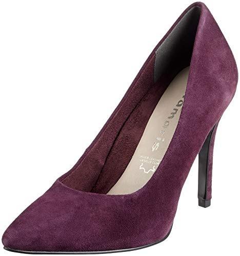 Con dk Purple Tacco Scarpe Donna Rosso 22443 36 31 Tamaris 546 8qt0n