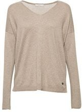 edc by Esprit 078cc1i005, Felpa Donna, Marrone (Taupe 5 244), Small