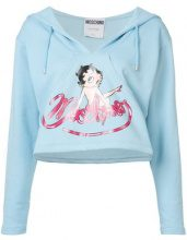- Moschino - Betty Boop hoodie - women - cotone - 42 - di colore blu