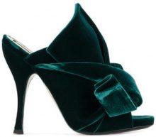 - Nº21 - Mules 'Velvet Bow' - women - pelle/velluto - 37, 35.5, 36 - di colore verde