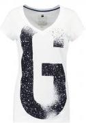THEAGAN SLIM V T S/S  - T-shirt con stampa - white